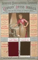 Advert For Bradford Manufacturing Company's Dress Fabrics